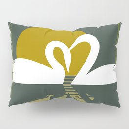 Swans at Sunset Pillow Sham