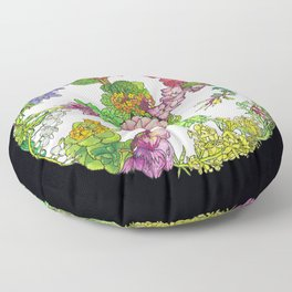 Floral Round Floor Pillow