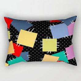 Multi-colored flaps, retro Rectangular Pillow