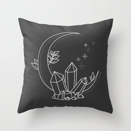 Crystal Moon Throw Pillow