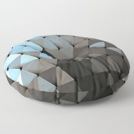 Triangles Blue Putty Floor Pillow