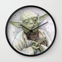 yoda Wall Clocks featuring Yoda  by Olechka