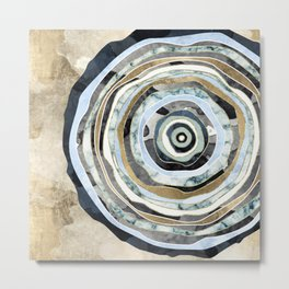 Wood Slice Abstract Metal Print
