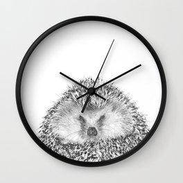 Black and White Hedgehog Wall Clock