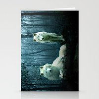 wolves Stationery Cards featuring Wolves by Julie Hoddinott