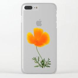 orange poppy Clear iPhone Case