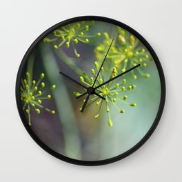 Dill Abstract on Mint Green and Plum Wall Clock