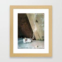 House Disaster Art -  Taking a Moment Framed Art Print