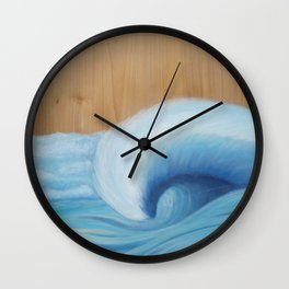 Wooden Wave Scape Wall Clock