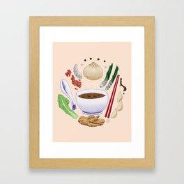 Dumpling Diagram Framed Art Print