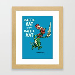Battle Cat in the Battle Hat Framed Art Print