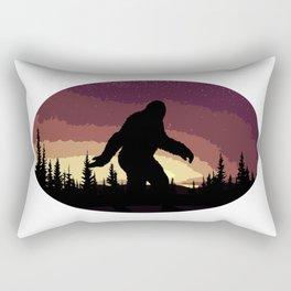 Bigfoot Sunset Rectangular Pillow