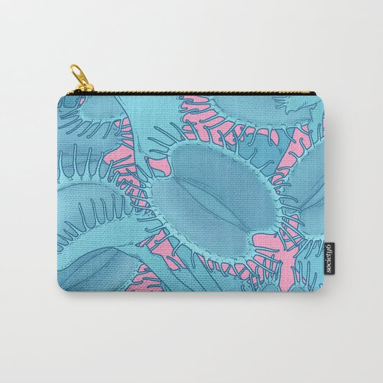 Free hugs (Venus Flytrap on pink) Carry-All Pouch