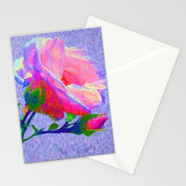 New Dawn Climbing Rose Painterly Stationery Cards