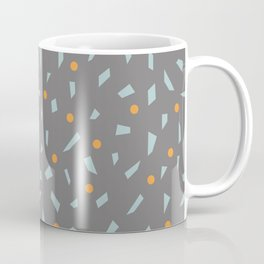 Gray Confetti Polka Dots Coffee Mug