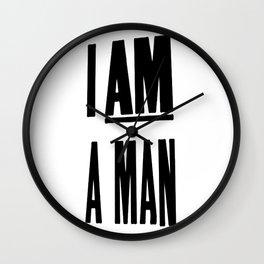 I AM A MAN (MEM '68) Wall Clock