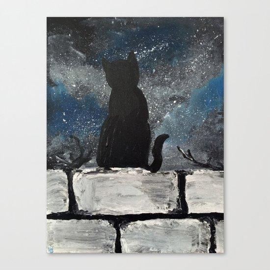 Twinkle Twinkle Little Cat Canvas Print