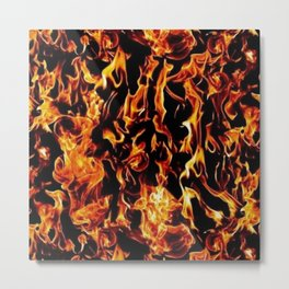 fire pattern Metal Print