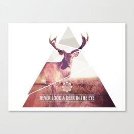 Never look a deer in the eyes Canvas Print