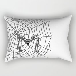web with spider, spideypool, hegre prints illustration is inspired ... Home Decor Graphicdesign Rectangular Pillow