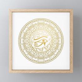 Horus Eye Mandala – Egypt Framed Mini Art Print