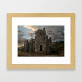Clifden Castle at the sunset Framed Art Print