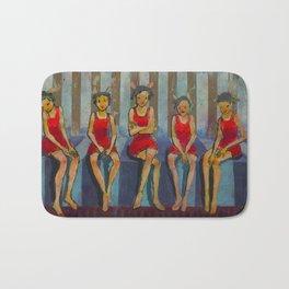 Five Little Red Riding Hoods 3 Bath Mat