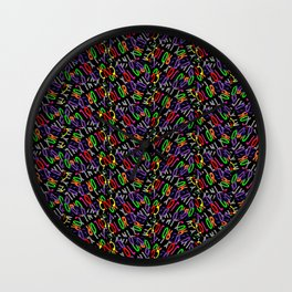 Colored Only in a Square World Wall Clock
