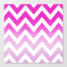 PINK CHEVRON FADE 2 Canvas Print