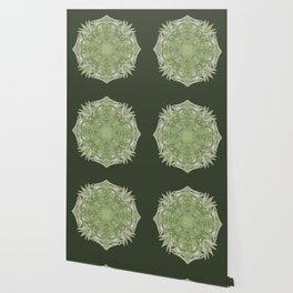 Green Lace Mandala Wallpaper