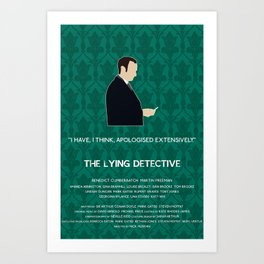 The Lying Detective - Mycroft Holmes Art Print