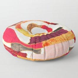 Slice of Wood Floor Pillow
