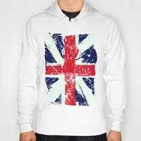 union jack Hoodies featuring Union Jack  by UrbanCandy