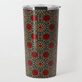 Gorgeous Geometric Beadwork Pattern Travel Mug