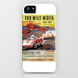 Mille Miglia, Race Poster, Vintage Poster, car poster iPhone Case