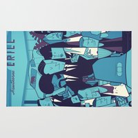 pulp fiction Area & Throw Rugs featuring PULP FICTION variant by Ale Giorgini