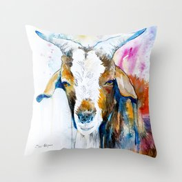 Goat 2 Throw Pillow