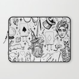 Antique Magic Starter Pack Black and White Laptop Sleeve
