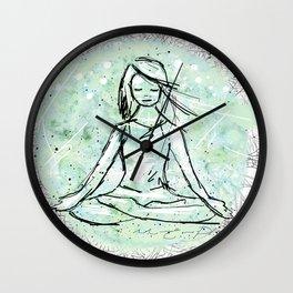 Yoga lace Wall Clock
