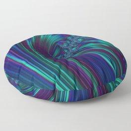 CRASH vivid jewel tones of sapphire blue & emerald green Floor Pillow