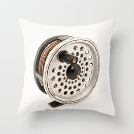 Fly Reel Throw Pillow