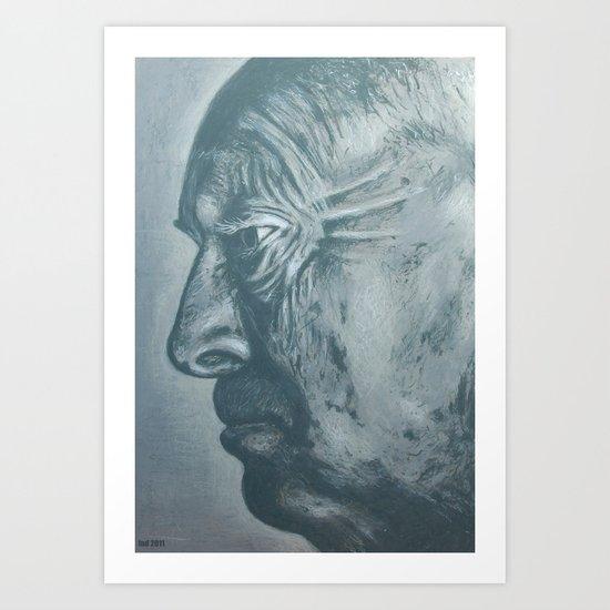 vladimir nabokov-grey scale Art Print