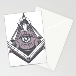 Illuminati symbol eye Stationery Cards
