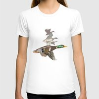 ducks T-shirts featuring Flying Ducks by smoothimages