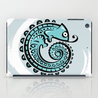 chameleon iPad Cases featuring chameleon by Erdogan Ulker