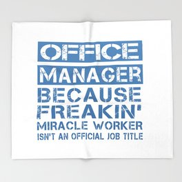 OFFICE MANAGER Throw Blanket