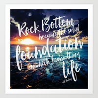 Art Print featuring Rebuild you Life by Sara Chapin