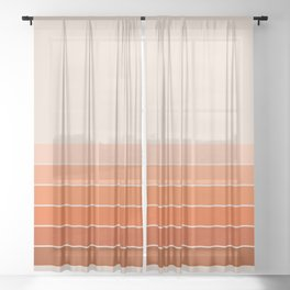 Red Rock Spring Stripes Sheer Curtain