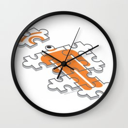 puzzle glance Wall Clock