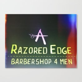 Razored Edge Barbershop Canvas Print